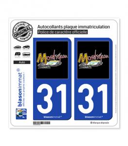 31 Montréjeau - Commune | Autocollant plaque immatriculation