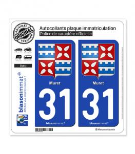 31 Muret - Armoiries | Autocollant plaque immatriculation