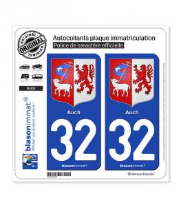 32 Auch - Armoiries | Autocollant plaque immatriculation