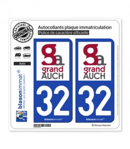 32 Auch - Agglo | Autocollant plaque immatriculation