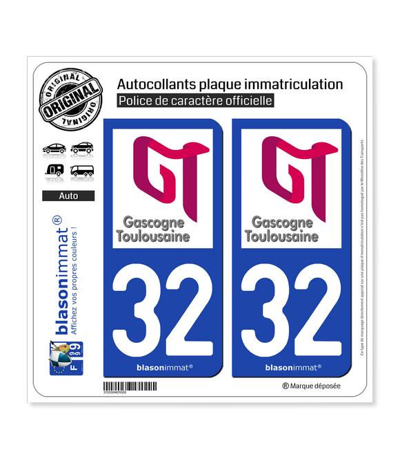 32 L'Isle-Jourdain - Agglo | Autocollant plaque immatriculation