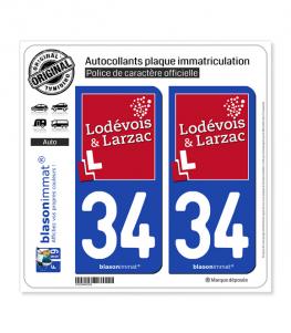 34 Lodève - Agglo | Autocollant plaque immatriculation