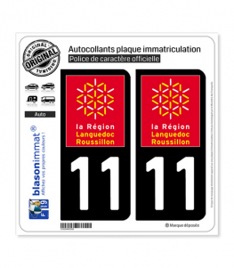 11 Languedoc-Roussillon - LogoType | Autocollant plaque immatriculation