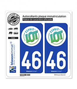 46 Lot - Tourisme | Autocollant plaque immatriculation