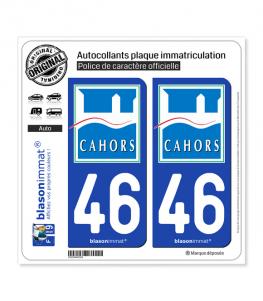 46 Cahors - Ville | Autocollant plaque immatriculation