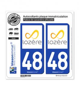 48 Lozère - Tourisme | Autocollant et plaque immatriculation