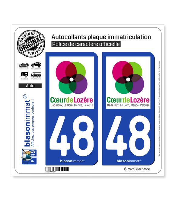 48 Mende - Agglo | Autocollant et plaque immatriculation