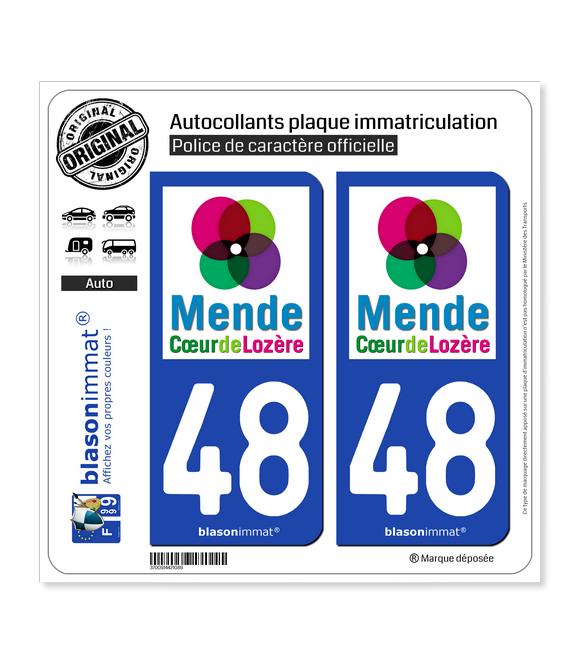 48 Mende - Tourisme | Autocollant et plaque immatriculation
