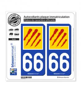 66 Pyrénées-Orientales - Département II | Autocollant plaque immatriculation