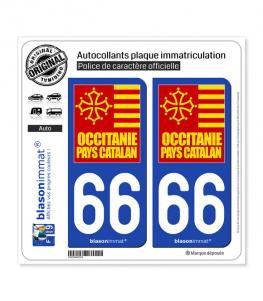 66 Occitanie - Pays Catalan | Autocollant plaque immatriculation