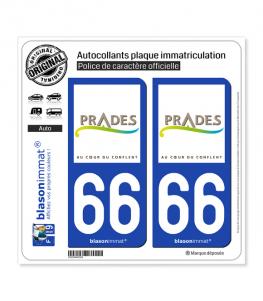 66 Prades - Ville | Autocollant plaque immatriculation