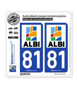 81 Albi - Agglo | Autocollant plaque immatriculation