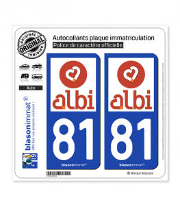 81 Albi - Tourisme | Autocollant plaque immatriculation