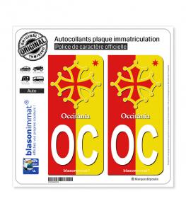 OC Occitanie - Collector | Autocollant plaque immatriculation