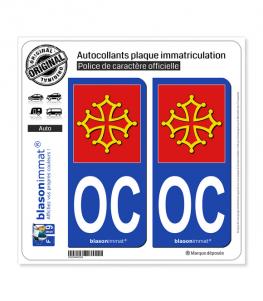 OC Occitanie - l'Authentique | Autocollant plaque immatriculation