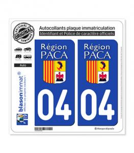 04 PACA - LogoType | Autocollant plaque immatriculation