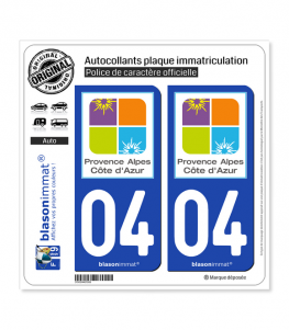 04 PACA - Tourisme | Autocollant plaque immatriculation