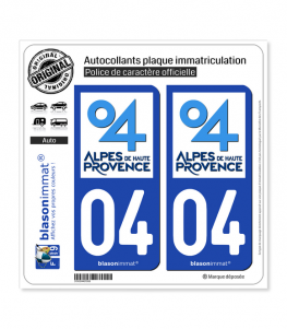04 Alpes de Haute-Provence - Département | Autocollant plaque immatriculation