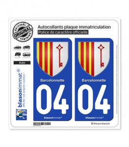 04 Barcelonnette - Armoiries | Autocollant plaque immatriculation