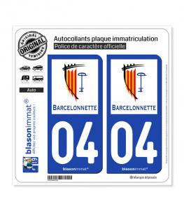 04 Barcelonnette - Ville | Autocollant plaque immatriculation