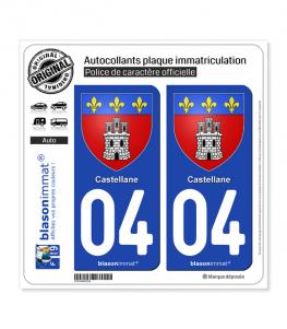 04 Castellane - Armoiries | Autocollant plaque immatriculation