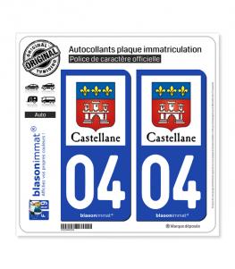04 Castellane - Ville | Autocollant plaque immatriculation