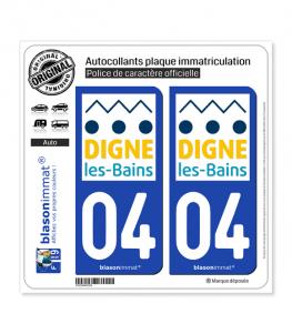 04 Digne-les-Bains - Ville | Autocollant plaque immatriculation