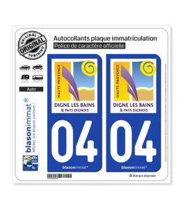 04 Digne-les-Bains - Tourisme | Autocollant plaque immatriculation