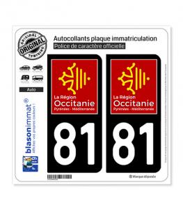 81 Occitanie - LogoType | Autocollant plaque immatriculation