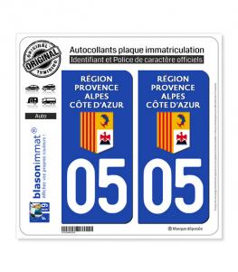 05 Région Sud - LogoType | Autocollant plaque immatriculation