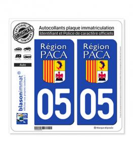 05 PACA - LogoType | Autocollant plaque immatriculation