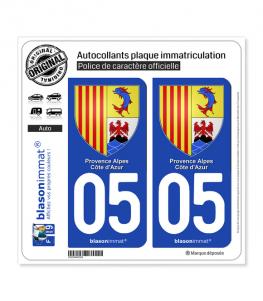 05 PACA - Armoiries | Autocollant plaque immatriculation