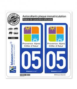 05 PACA - Tourisme | Autocollant plaque immatriculation