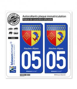 05 Hautes-Alpes - Armoiries | Autocollant plaque immatriculation