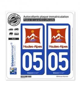 05 Hautes-Alpes - Département | Autocollant plaque immatriculation