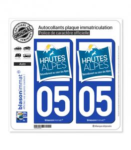 05 Hautes-Alpes - Tourisme | Autocollant plaque immatriculation