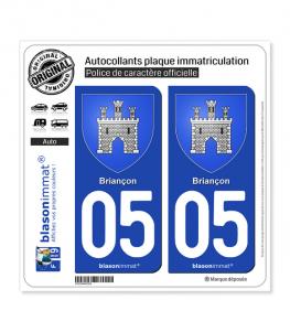 05 Briançon - Armoiries | Autocollant plaque immatriculation