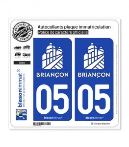 05 Briançon - Ville II | Autocollant plaque immatriculation