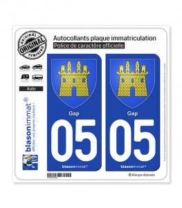 05 Gap - Armoiries | Autocollant plaque immatriculation
