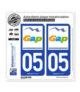 05 Gap - Ville | Autocollant plaque immatriculation