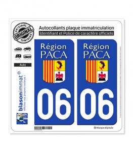 06 PACA - LogoType | Autocollant plaque immatriculation