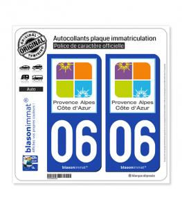 06 PACA - Tourisme | Autocollant plaque immatriculation