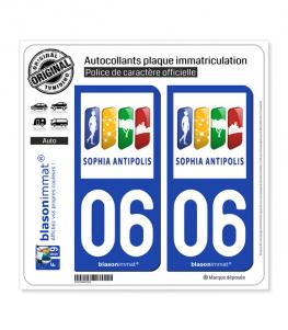 06 Antibes - Agglo | Autocollant plaque immatriculation