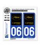 06 Cannes - Festival   Autocollant plaque immatriculation
