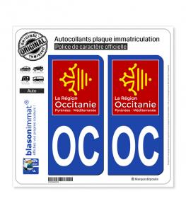 OC Occitanie - LogoType | Autocollant plaque immatriculation