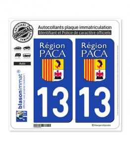 13 PACA - LogoType | Autocollant plaque immatriculation