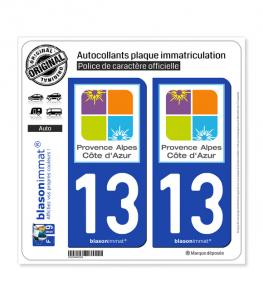 13 PACA - Tourisme | Autocollant plaque immatriculation
