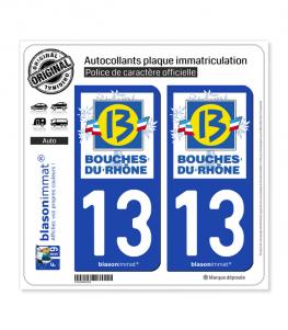 13 Bouches-du-Rhône - Département | Autocollant plaque immatriculation