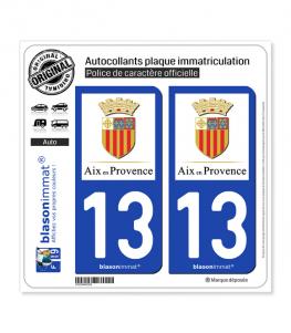 13 Aix-en-Provence - Ville | Autocollant plaque immatriculation