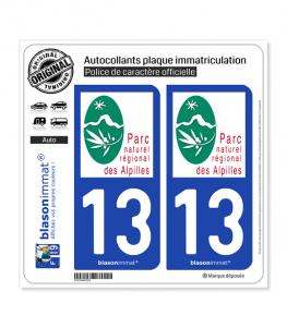 13 Alpilles - Parc Naturel Régional | Autocollant plaque immatriculation